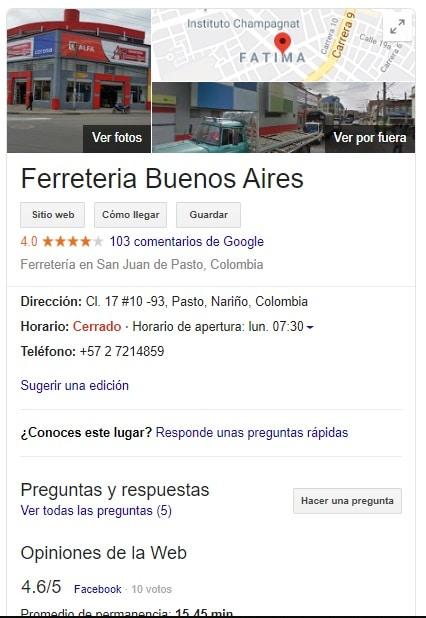 google my business argentina