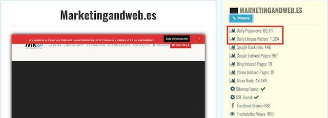 Cómo saber tráfico web