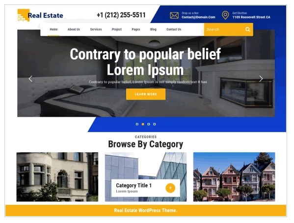 VW Real Estate one of the best WordPress templates for real estate